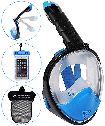 HELLOYEE Upgraded Snorkel Mask 180° Panoramic View Breathe Free For...