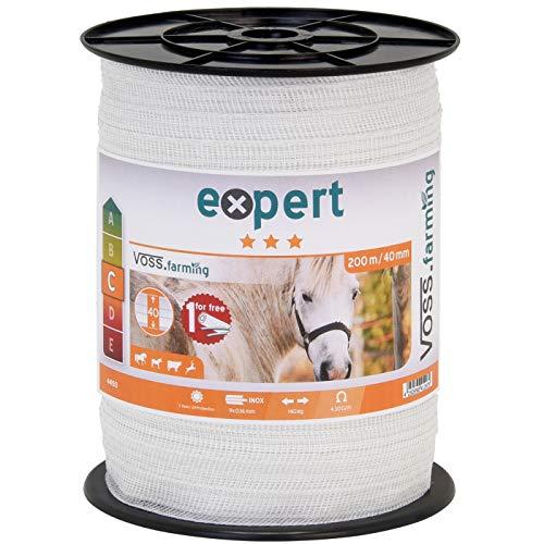 200 m ruban de clôture électrique 40 mm conducteur 9 x 0,16 mm acier inoxydable cheval
