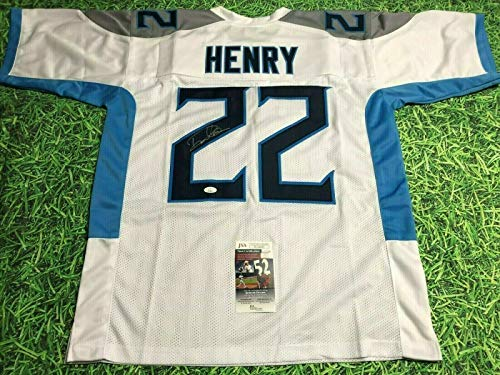 DERRICK HENRY AUTOGRAPHED TENNESSEE TITANS W JERSEY JSA