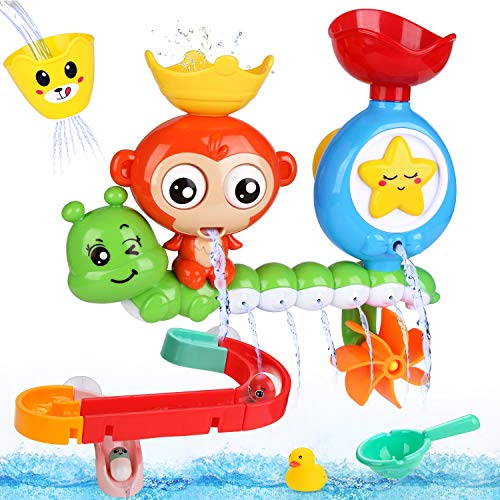Fantastic Deal! BBLIKE Bath Toys, Bath Wall Toy with Waterfall Station Toy Bath Track, Bath Toys for...