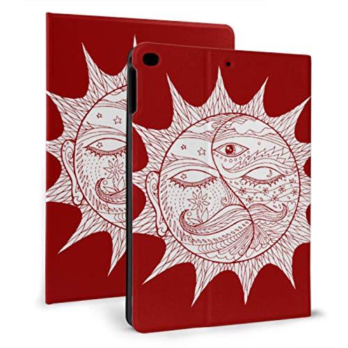 JIUCHUAN Air Ipad Cover Sun Face Sunny Icon Sign Symbol Childrens Ipad Case For Ipad Mini 4/mini 5/2018 6th/2017 5th/air/air 2 With Auto Wake/sleep Magnetic Girly Ipad Case