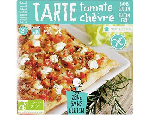 Tarte fine aux tomates et au chèvre surgelée BIO sans gluten Zen & Sans Gluten - 350 g