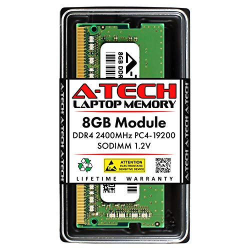 A-Tech 8GB DDR4 2400MHz SODIMM PC4-19200 Non-ECC CL17 1.2V 260-Pin SO-DIMM Laptop Notebook Computer RAM Memory Upgrade Module