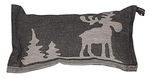Jokipiin | 1 Saunakissen Lieblingskissen Reisekissen | Design: Elch | Maße: 40 x 22 cm, Leinen/Baumwolle | schadstofffrei Ökotex 100 | hergestellt in Finnland