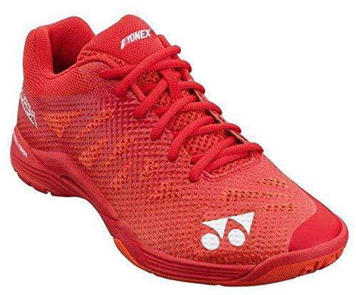 Yonex - Zapatillas de bádminton Power Cushion Aerus3 para hombre, color rojo, 45 m