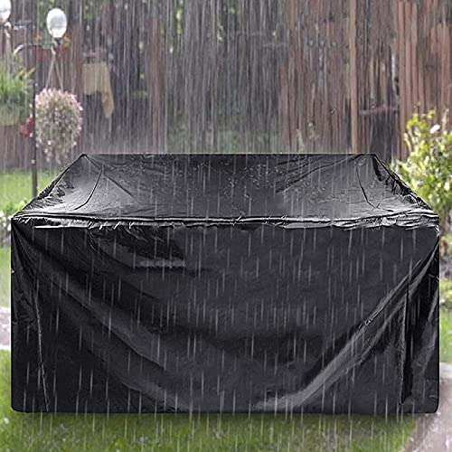 Garden Furniture Cover Haryar 420D Oxford Cloth Black Outdoor Waterproof, Windproof and UV proof9120*120*74)