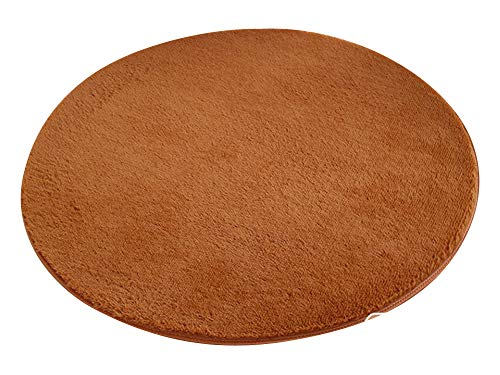 120 Diameter Beige The Indian Arts Fair Trade Redondo 100/% Yute Trenzada Alfombra Tejido