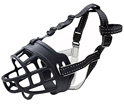 CRAZYBOY Silicone Basket Dog Muzzles, Breathable and Adjustable, Allows Drinking, Panting, and Eating by CRAZYBOY