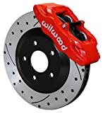 NEW WILWOOD SLC56 RED FRONT DISC BRAKE KIT FOR 97-13 CORVETTE C-5 C-6 Z06, CALIPERS, ROTORS, PADS, 1997 1998 1999 2000 2001 2002 2003 2004 2005 2006 2007 2008 2009 2010 2011 2012 2013