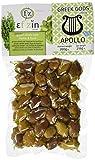 Ef Zin Griechische Grüne Oliven von Chalkidiki mit Thymian und Basilikum (Apollo) in Vakuum Packung 200 g, 2er Pack