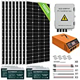 ECO-WORTHY 1600W 24V Complete Solar Power System Kit with Battery and All-in-one Solar Charger Inverter and Solar Panels, Suit for Home Shed Barn House Man Cave