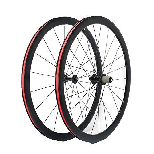 Ruedas para Bicicleta,700C Aleación de Aluminio Llanta de Doble Piso Admite Velocidad 8/9/10/11 Apto para Bicicletas Juego de Ruedas Bicicleta