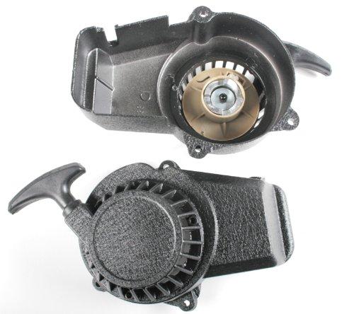 Seilzugstarter Aluminium Seilzug Starter Pullstarter für Pocketbike 49cc Dirtbike Crossbike Mini Atv Quad