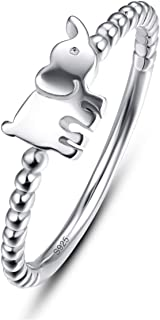Best 925 sterling silver elephant ring Reviews