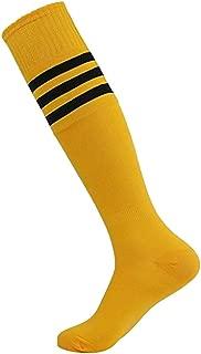 Bullidea 1Pair Men Women Long-barreled Stripes Sock Cheerleading Soccer Baseball Football Basketball Sports Cotton Socks Knee High Ankle Socks