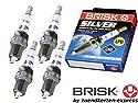 Brisk Silver DR17YS-9 1463 Zündkerzen Benzin LPG CNG Autogas, 4 Stück