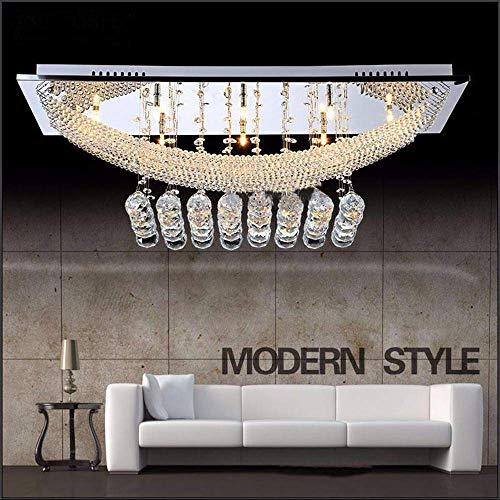 JHSHENGSHI Moderne LED Kristall Deckenleuchte, Deckenleuchte-Befestigung Flush Mount Kronleuchter Beleuchtung mit Lampe inbegriffen, Fit für Küche, Esszimmer, Wohnzimmer, Halogen Bulb