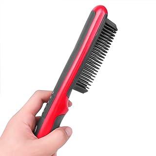ECHOU Peluquería Plancha eléctrica Vapor Caliente Peine Barba Plancha estilizador Cepillo de Pelo Peinado enderezado, Liso, Rizo, Herramientas de volteo para Las Mujeres