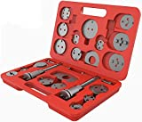 Todeco Set di Utensili per Pinze Freno, Kit Riparazione Freni, con Custodia Rossa, 21 Part...