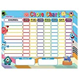 Chore Chart for Kids Dry Erase Reward Chart Reusable Self-Adhesive Behavior Chart for Home Classroom 8 Pack