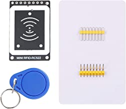 MakerHawk RFID Kit RC522 Mini RFID Reader Module RFID Starter Kit IC Card Induction Read/Write Card Module 13.56MHZ 3.3V with S50 White Card and Key Ring for Arduino Raspberry Pi UNO R3 MEGA 2560