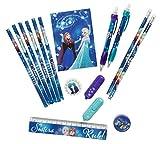 HOVUK Super Papelería Set con Personaje Impreso Niños Frozen Color Azul Usable para Unisex Niños 3+Año