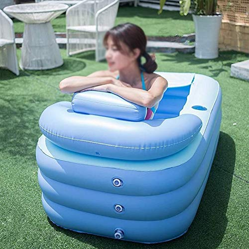 Sfeomi Adult Inflatable Bath Tub, Blow Up Bathtub with Portable Folding Feature and Foot Air Pump, Air Bathtub Spa with…