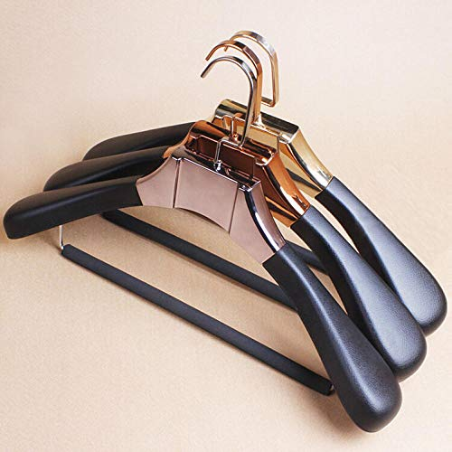 zhaoyangeng veelzijdige en duurzame kwaliteit PU-leer beklede metalen beugel met bar voor bont kleding/voor kleding winkel 1 stuk @ champagne_goud