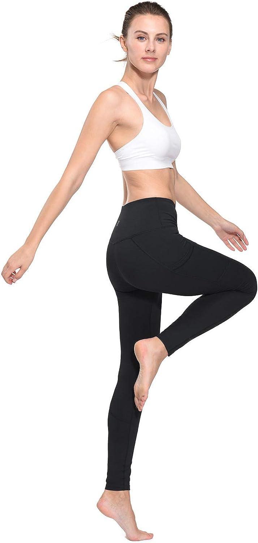 "BALEAF Women/'s 28/"" Yoga Pants for Women Pockets High Waist Tummy Control Tall Leggings"