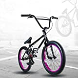 GASLIKE Bicicleta BMX Freestyle de 20 Pulgadas para Ciclistas Principiantes a avanzados, Cuadro de Acero de Alto Carbono 4130, Engranaje BMX 25X9t, Freno Tipo U