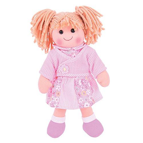 Bigjigs Toys Poupée 34cm Abigail | Jouet Enfant | Jeu Traditionnel Enfant | Nounours | Jouet Enfant | Cadeau Enfant | Jouet pour Fille