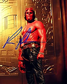 Ron Perlman Hellboy Autographed Preprint Signed Photo 7