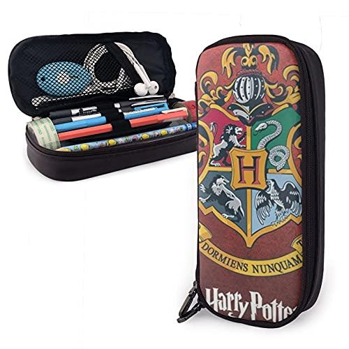 Harry Pot-TER Hog Warts College Man Estuche para lápices de escuela, gran almacenamiento