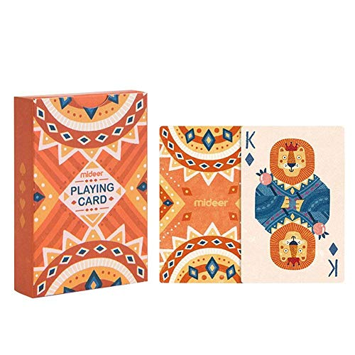 OEFHEIOWJO Poker Deck Spielkarten Brettspiele Party Animal Puzzle Brettspiel Helle Farben for Kinder & Erwachsene Kartenspiele Spiele (Color : Orange)