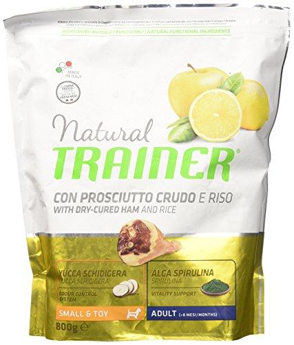 Natural Trainer Small & Toy Adult Dog Food Trainer Natural Small Prosciutto Riso GR. 800 Cibo Secco per Cani, Multicolore, Unica