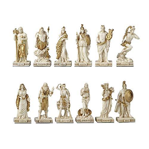 XoticBrands Greek Pantheon The Twelve Olympians Myth & Legend. Sculpture