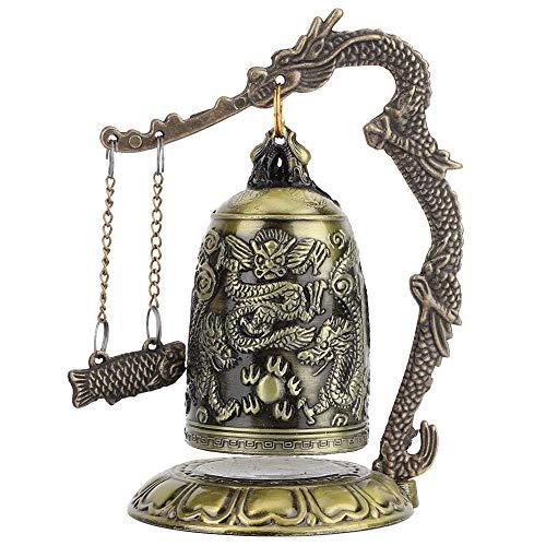 Hilitand Vintage Drago Campana Buddista Piccolo Scolpito Bronzo da Collezione Ornamenti Scrivania Decorazione