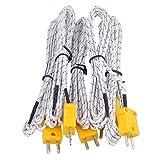 BQLZR 2m cable de termopar K Tipo Sonda Sensores con conector mini Pack de 5...