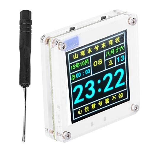 Großer Schriftwetterstationskalender Prcatical Perpetual Calendar Clock LCD-Digitalanzeige Elektronisch für Farbkalenderuhr