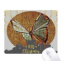 デザインの刺繍の亜麻の蝶の伝統 クリスマスイブのゴムマウスパッド