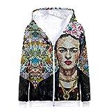 Goyfeelip Frida Kahlo Impresión 3D Sudaderas con Cremallera Sudadera con Capucha Harajuku Chaqueta de la Chaqueta de la Chaqueta (Color : Green, Size : M)