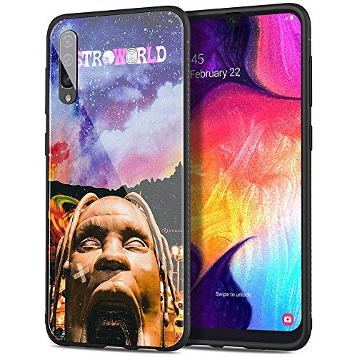 Samsung Galaxy S7 Case, Tempered Glass Back Cover Soft Silicone Bumper Compatible with Samsung Galaxy S7 AMB-2 Astroworld Travis Scott