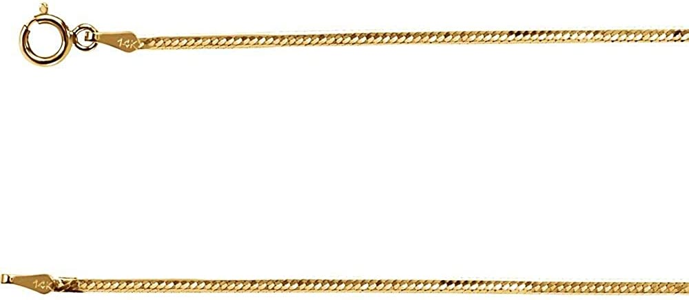 14k Yellow Gold Columbus Mall 1.5mm Solid Herringbone Flexible Chain Necklace Tampa Mall