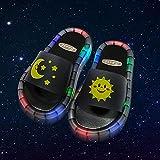 Amazon Infradito,2021 Ragazze Pantofole per Bambini Scarpe da Giardino LED Pantofole per Bambini Bagno Bagno Sandali per Bambini Scarpe per Bambini per Ragazze Ragazzi Light Up Scarpe Toddler-Nero_i