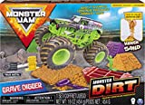 Monster Jam, Grave Digger Monster Dirt Deluxe Set, Featuring 16oz of Monster Dirt and Official 1:64 Scale Die-Cast Monster Jam Truck