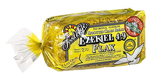 Food For Life Flourless Sprouted Grain Bread, Flax, 24 oz (Frozen)