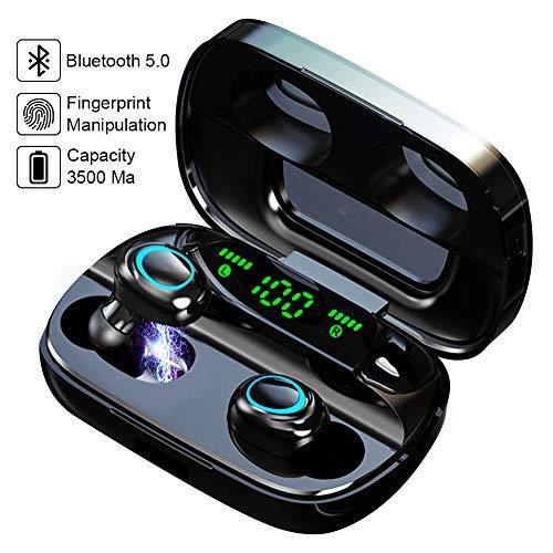 Bluetooth Kopfhörer in Ear, Wireless Noise Cancelling Earbuds mit 3500mAh Ladebox Smart LCD Digitalanzeige Sport Kopfhörer Touch-Control