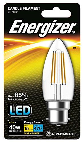 Energizer LED électrificateur Energy Saving ampoule à incandescence, Bougie, B22, 4 W,