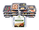 Emerald Living 3 Fach Meal Prep Container Set (1l, 7-teilig)