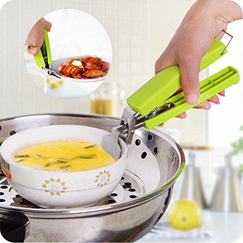 Edelstahl Anti-Hot Pot Pfanne Hot Dish Teller Schüssel Greifer Clip Safe Zange Träger Halter Klemme Küchenwerkzeug zufällige Farbe